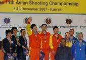 图文:男子50米手枪慢射 中国三将登上最高奖台