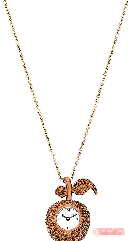 铜金色苹果项链表,散发复古情怀。1万3500元(约合人民币3375元)