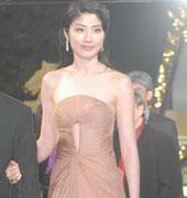 陈慧琳肉色长裙