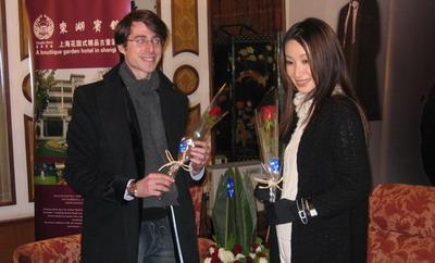秦海璐收到红玫瑰