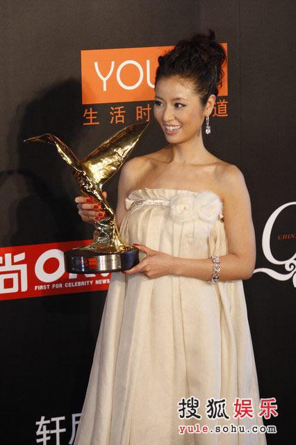 图:2007风尚大典 林心如获奥迪风尚公益奉献奖