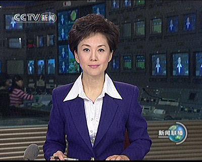 央视女主播海霞亮相新闻联播