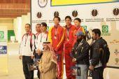 图文:男子双多向飞碟颁奖仪式 中国队团体夺冠