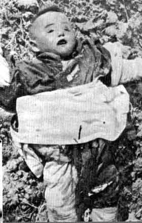 被杀害的幼儿尸体