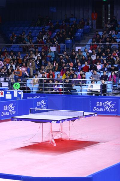 图文:北大体育馆启用仪式举行 漂亮的比赛场地