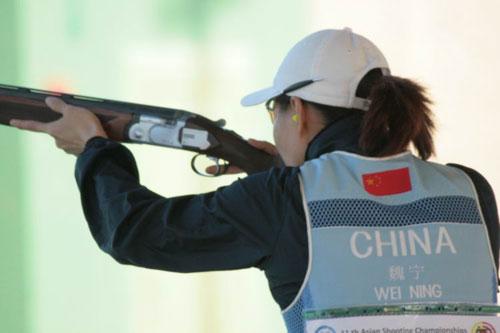 图文:射击亚锦赛女子双向飞碟 中国选手遭淘汰