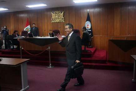 12月10日,秘鲁前总统藤森进入位于首都利马的最高法院特别法庭
