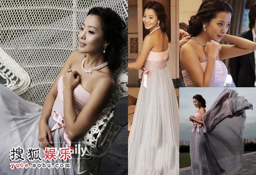 款式之一:粉色裹胸