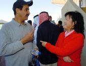 图文:科威特夺得一个奥运席位 张山上前祝贺