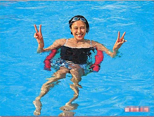 卢淑仪怀孕期间经常游泳