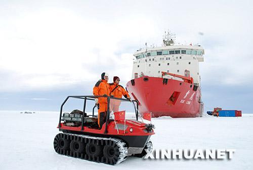 我国南极科考首次使用水陆两栖全地形车(图)