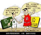 NBA漫画:火箭雄鹿双双得胜