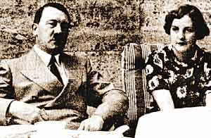 希特勒和尤尼蒂·米特福德。