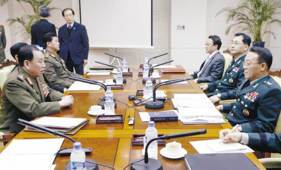 朝韩军事会谈发生肢体冲突(组图)