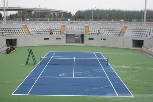 组图:奥林匹克公园网球中心 1号和2号赛场场地