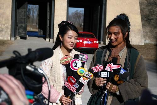 图文:探秘田亮安以轩拍摄现场 两人被媒体轰炸