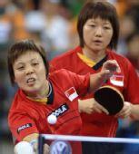 图文:郭跃/李晓霞晋级女双决赛 对手表情沮丧