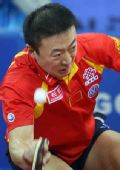 图文:马琳4-1马龙晋级男单决赛 马琳表情丰富