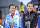图文:国际乒联总决赛女双颁奖 亚军韩国组合