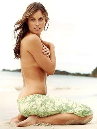 图文:美女奥运冠军性感写真 半裸美女电眼回眸