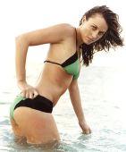 图文:美女奥运冠军性感写真 美人嬉水性感泳装