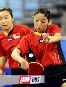 图文:新加坡女乒3-1欧洲 于梦雨反手抽击