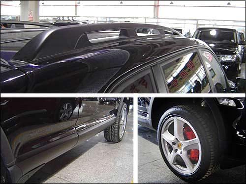 暗黑色的行李架、迎宾装饰条和更大尺寸的轮毂是限量版的特权