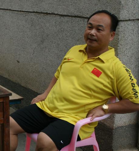 中国男子举重队总教练陈文斌