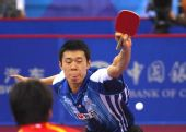 图文:[乒乓球]男团3-0韩国夺冠 李廷佑弧圈