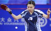 图文:中国香港女团3-0欧洲 吴佳多反手回球