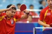 图文:[乒乓球]男团3-0韩国夺冠 陈�^怪异动作