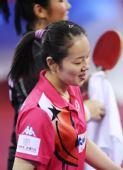 图文:中国香港女团3-0欧洲 帖雅娜表情轻松