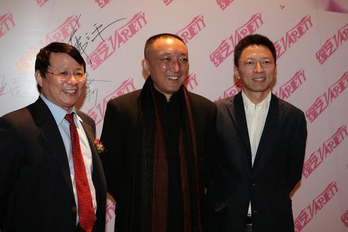 IDG全球高级副总裁熊晓鸽、中影集团董事长韩三平与搜狐董事局主席兼首席执行官张朝阳先生