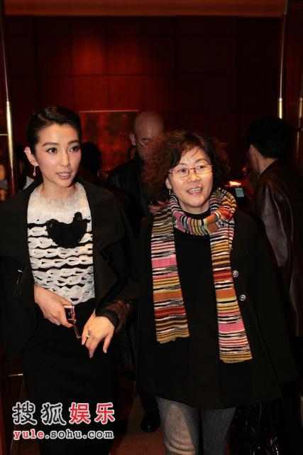图: 演员李冰冰和导演李少红来到