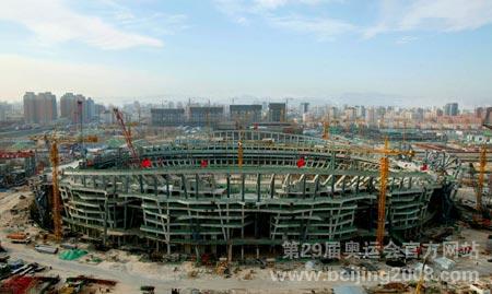 图文:国家体育场施工鸟瞰 混凝土结构工程完工