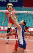 图文:天津3-1八一夺得女排冠军 天津二传组织