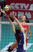 图文:天津3-1八一夺得女排冠军 网上比拼激烈