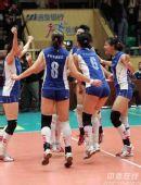 图文:天津3-1八一夺得女排冠军 天津庆祝夺冠