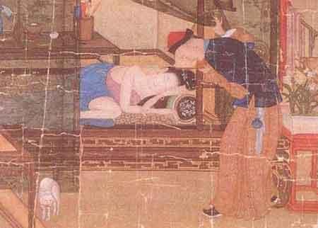 古代妃子怀孕图片手绘