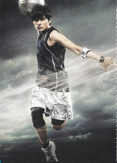 春节大片《功夫灌篮》周杰伦的篮球装造型,酷帅有劲。