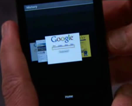 图:Android系统的网页浏览器