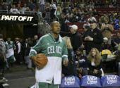 图文:[NBA]凯尔特人VS超音速 雷阿伦出场