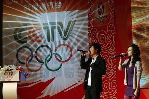 文:CCTV奥运频道启动 高明俊与杨波倾情演绎