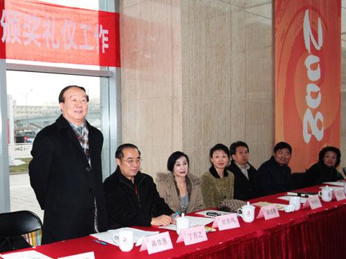 北京奥组委副主席蒋效愚讲话 曹晖摄