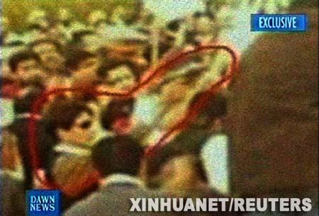12月29日,巴基斯坦Dawn电视台播放了一名业余摄影者12月27日在拉瓦尔品第举行的集会上拍摄的照片。 新华社/路透