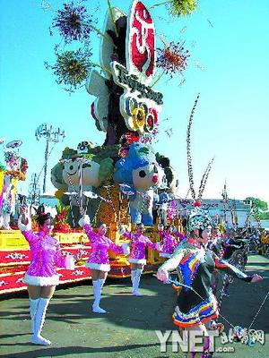 第119届美国帕萨迪那玫瑰花车游行昨日举行