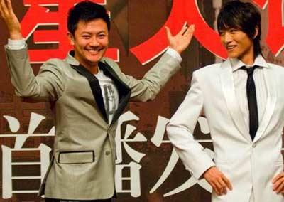 《五星大饭店》首播式,图右为张俊宁
