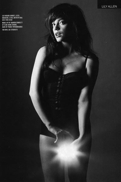 莉莉-艾伦(Lily Allen)黑白写真