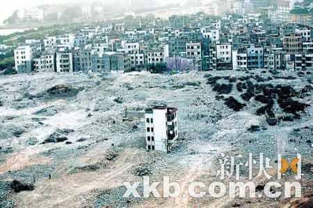 """按照广州市中院的判决,猎德仅剩的4名""""钉子户""""的房子还是要拆。王翔/摄(资料图)"""