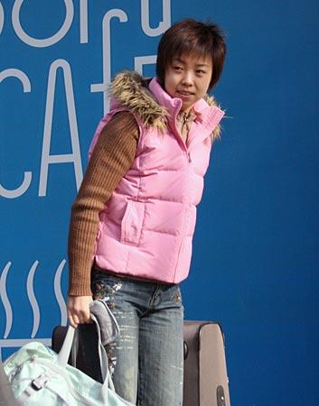 张怡宁模特风范